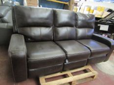 Costco 3 seater leather reclining sofa, has a couple of small patches where the leather colour has
