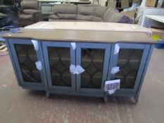 Northridge Home Accent Console TV Unit, is in very good condition except one front leg is snapped
