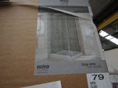 Mira left hand 1000 x 800mm quad door, new and boxed. 108094