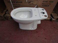 4x Victoria Plumb Elena CC pan I13WCP toilet pan, new and boxed.