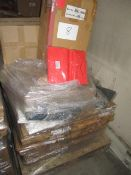 8 x Pallet as seen , will contain a variety of assorted packaging items , unmanifested . See lot 0
