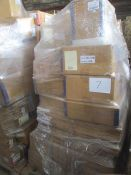 7 x Pallet as seen , will contain a variety of assorted packaging items , unmanifested . See lot 0