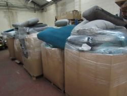 8 Pallets of Swoon Sofa Seat and Back cushions.