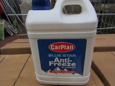 6x CarPlan - Blue Star Anti-Freeze - 2 Litres - Unused & Boxed.