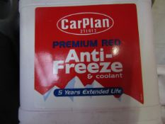 5x CarPlan - Red Advance Anti-Freeze & Coolant (5 Years Extended life) - 2 Litres - Sealed.