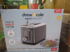 | 1X | DREW AND COLE 4 SLICE TOASTER | REFURBISHED AND BOXED | NO ONLINE RESALE | SKU - | RRP £50.00