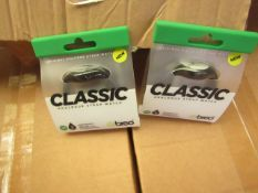 2 x Breo Classic Analogue Strap Watch. Packaged but untested