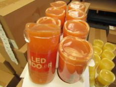Box of 8 LED Battery Operated Candles. New & Boxed. See Image For Colour