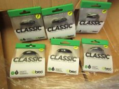 6 x Breo Classic Analogue Strap Watch. Packaged but untested