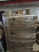 Pallet of Tutti Bambini Raw customer return childrens bedroom furniture, all unchecked, the manifest