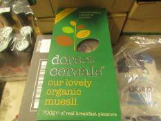 Box of Dorset Cereals - Organic Muesli (Toasted Flakes Raisins & Brazils - All Unused & Boxed.