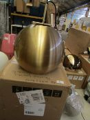 | 1X | CAPELLA PENDANT LIGHT IN BRASS | UNCHECKED AND BOXED | RRP £89 |