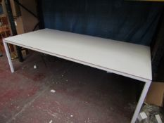 | 1X | HAY WHITE DINING TABLE 250 X 120CM | HAS S FEW SMALL MARKS AND BLEMISHES | RRP £1055.00 |