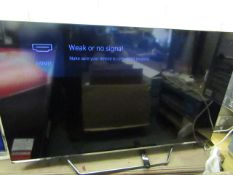 """Hisence 55U7QFTUK 55"""" TV with Remote. Tested Working. RRP £549"""