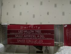 7Foot LED Willow Tree with 288 LED Lights. Boxed but untested. RRP £149.89