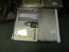 Couture 264cm x 229cm Eyelet Curtains in Cork. Look Unused & Packaged but unchecked