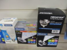100pcs Brand New Megaman LED Bulbs - Variety of fittings picked from stock at random - pictures