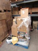 | 1X | PALLET OF APPROX 8X VARIOUS KITCHEN ELECTRICALS SUCH AS AIR FRYERS | ALL UNCHECKED IN BROWN