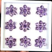 Natural Amethyst - 73.30 carats - 63 pieces - average retail value £ 4,584.49