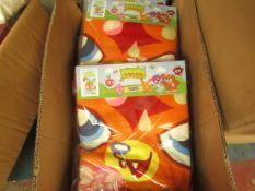 3 x Moshi Monster Washy Monster Towels. 70cm x 140cm. New & Packaged