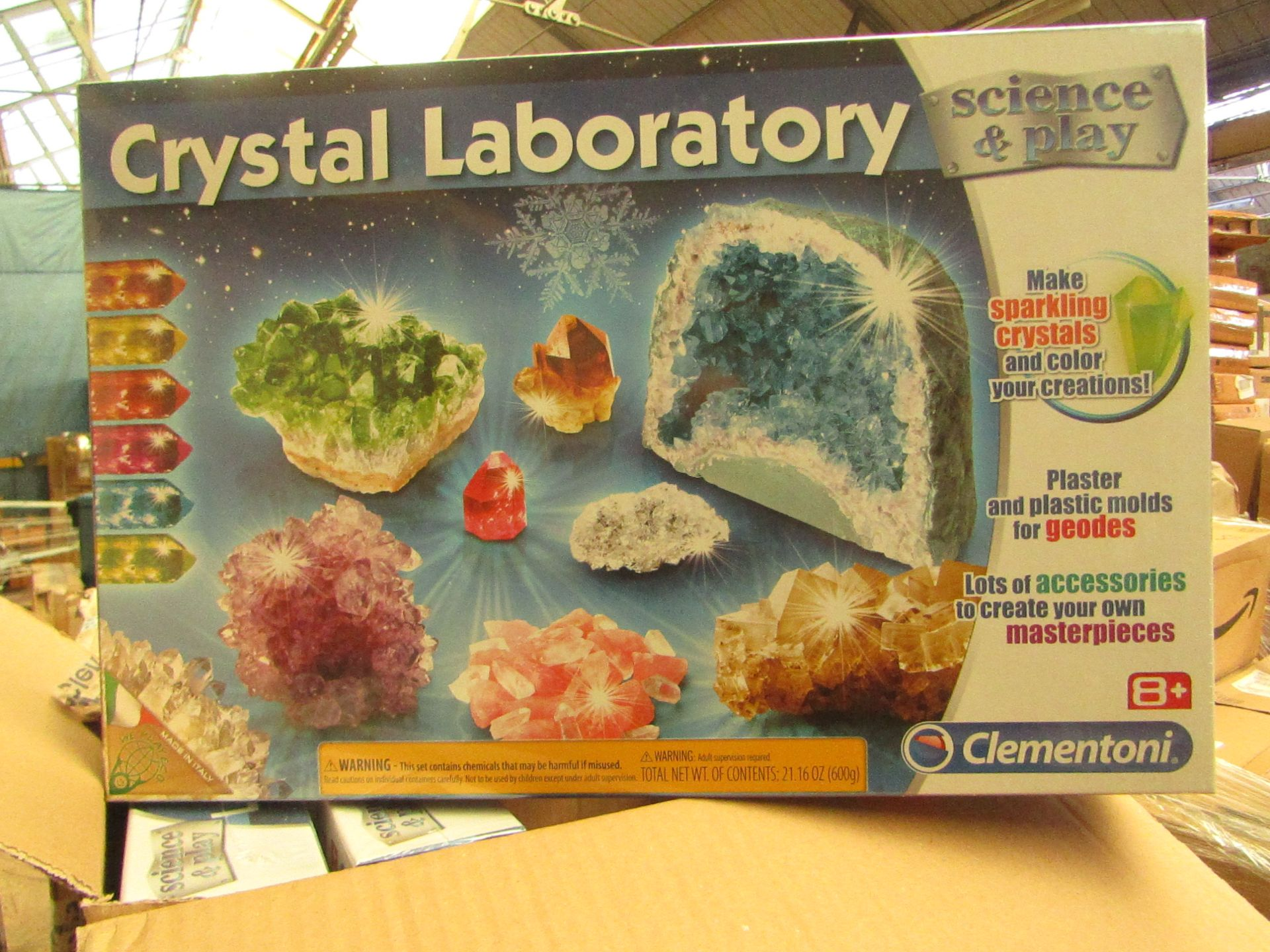 Clementoni Crystal Laboratory. Make your own Crystals. Unused & Packaged