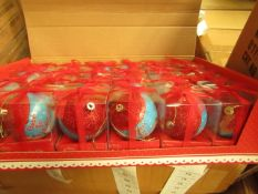 Box of 24 'Babys First Christmas Baubles. New & Boxed