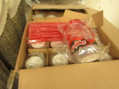 Box of 24 Miraculous Drinking Bottles with Straws. New & Boxed