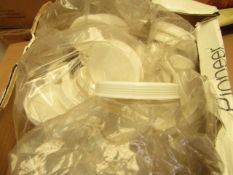 Box of Approx 50 Plastic Cup lids. Unused