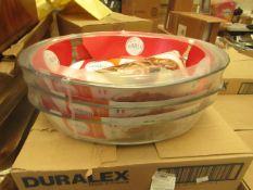 3 x 4L 39cm x 27cm Duralex Oven Dish. new & packaged