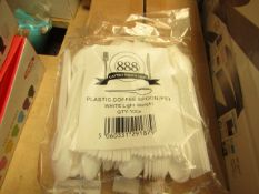 6 x 100 Plastic Spoons. New & Packaged