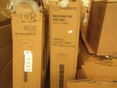 Dealberry 80cm Tower Fan with Timer. Model TF-80AT. Boxed but untested.