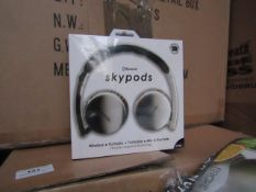 5x Sky Pods - Bluetooth Wireless Headphones Includes Mic - unchecked & Boxed
