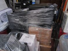 Pallet containing approx 15 - 30 various mini fridges and coolers, all completely unchecked and