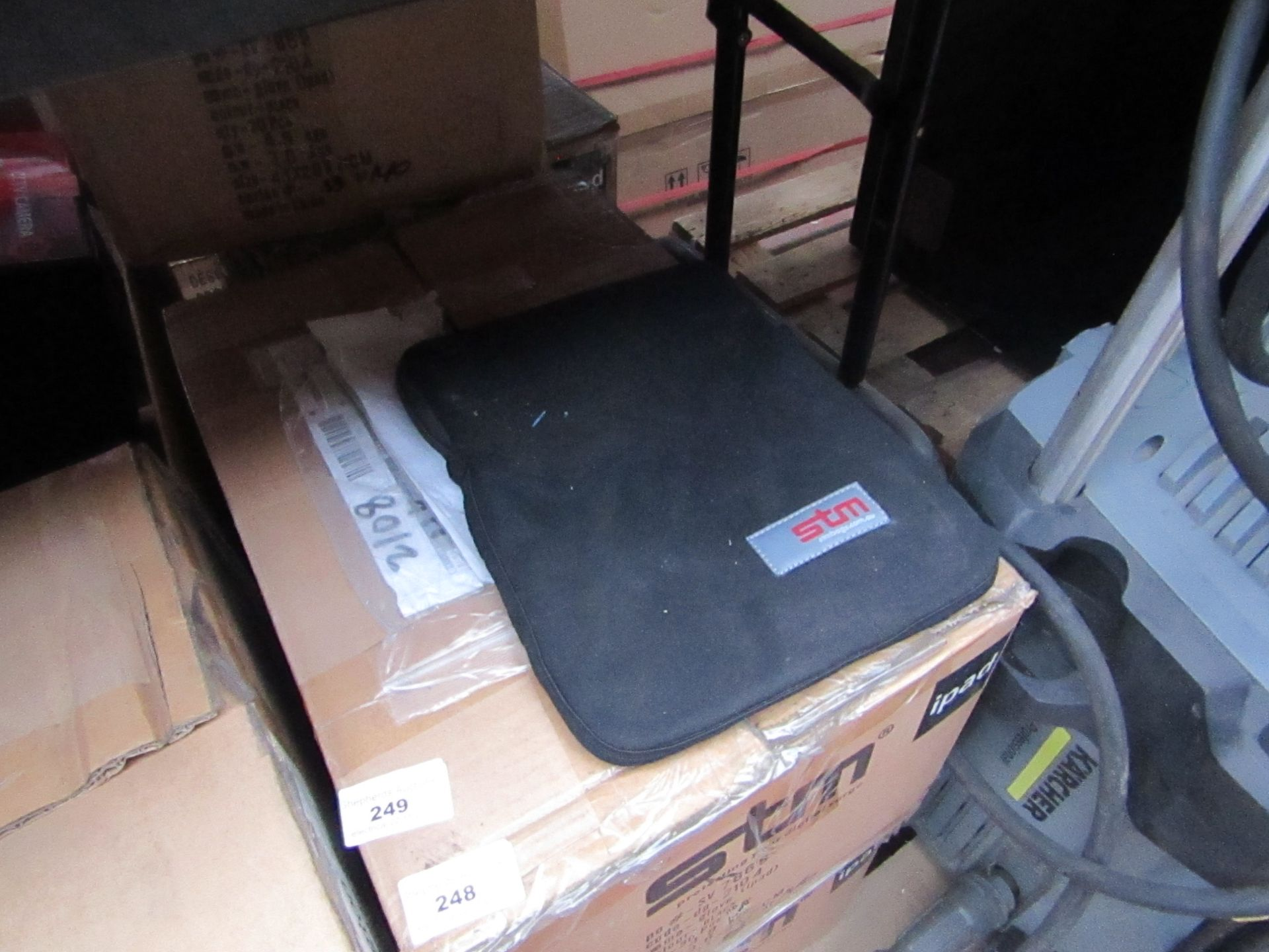 """Box of 30x STM iPad or 10"""" screen tablet protective sleeves, new and boxed."""