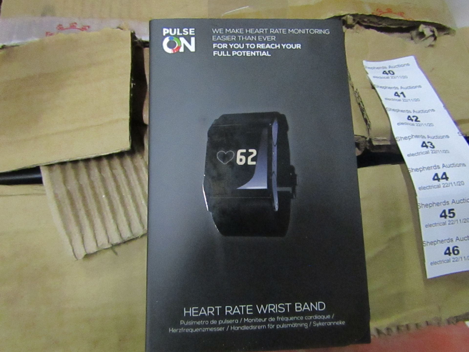 Pulse On - Heart Rate Wrist Band - unchecked & Boxed