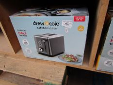 Drew & Cole - 2 Slice Rapid Toaster - unchecked & Boxed