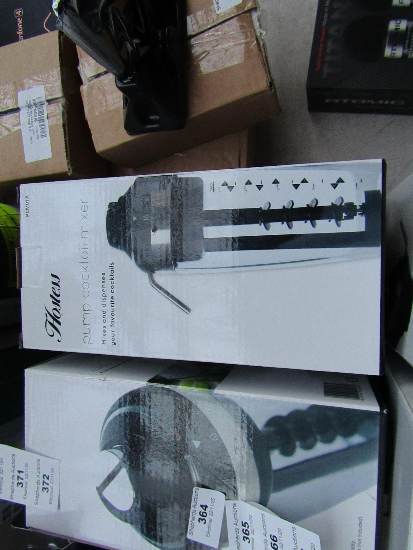 Hostess - Pump CockTail Mixer 500ML Capacity - unchecked & Boxed