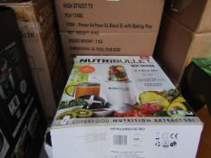 | 1X | NUTRI BULLET 600 SERIES HEALTH BLENDERS| UNCHECKED AND BOXED | NO ONLINE RESALE | SKU |