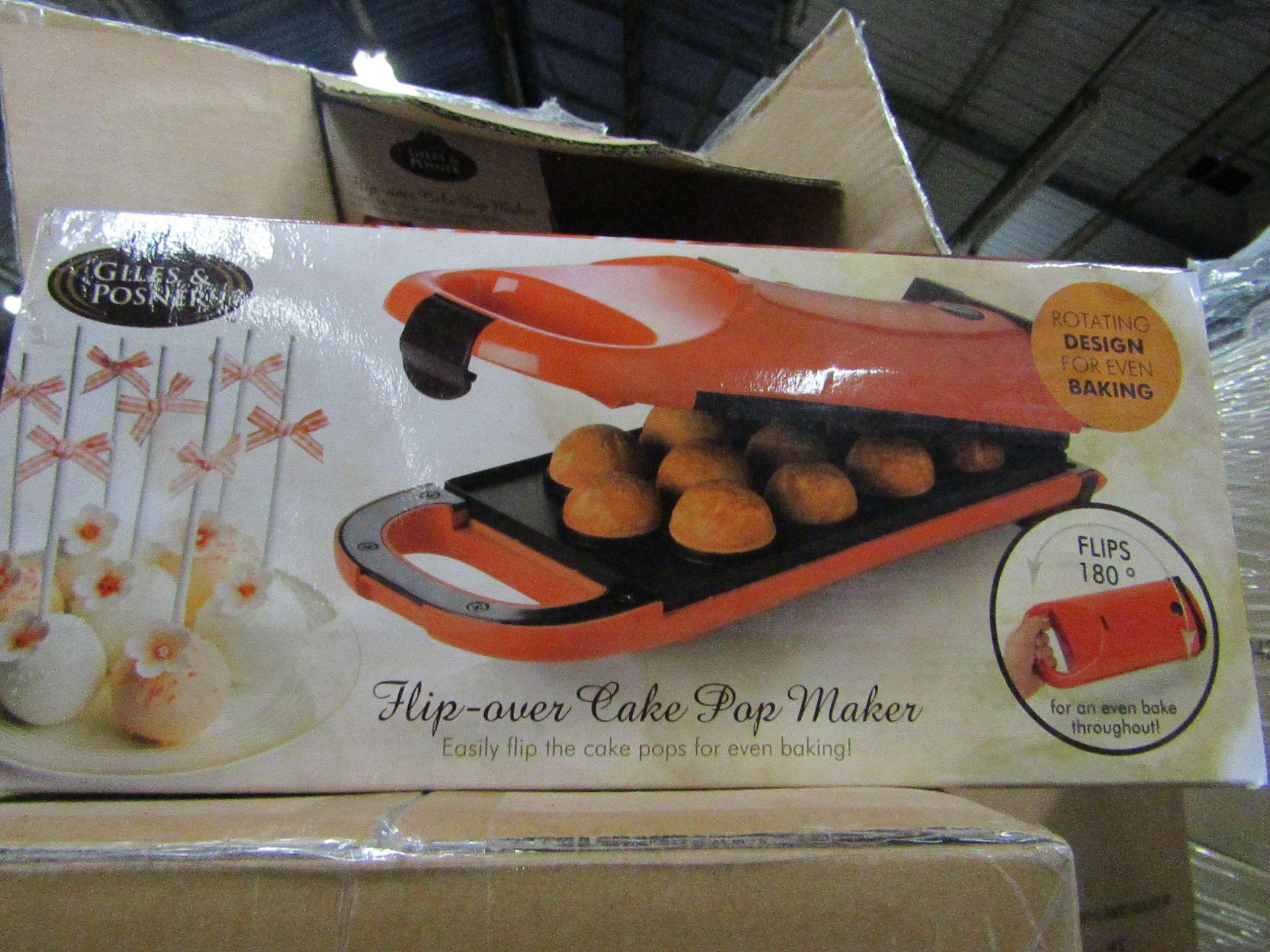 4x Giles & Posner - Flip-Oven Cake Pop Maker - new & Boxed