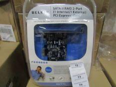 4x Belkin - Sata ll Raid 2-Port (1 Internal / 1 External) Pci Express Card
