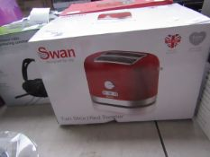 Swan - Two Slice Red Toaster - unchecked & Boxed