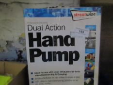 Streetwise - Dual Action Hand Pump - Unchecked & Boxed. 1x Total - Window De-Icer (500ml) -