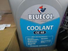 3x Bluecol - Coolant OE48 - 5 Litres - All Sealed.