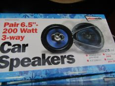 "Streetwize Audio - Pair 6.5"" 200w 3-Way Car Speakers - Unchecked & Boxed."