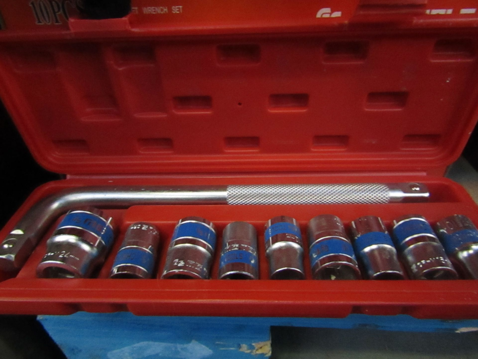 GS MIG Tools - 10 Piece 1/2 Socket Wrench Set ChromeVanadium - All New & Boxed.
