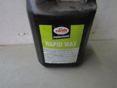 Turtle Wax - Rapid Wax - 5 Litres - Sealed.