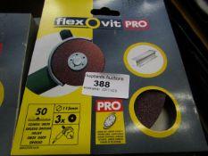 10x Flexovit Pro - 50 Grit Coarse Metal Angle Grinder Plates - All Unused & Boxed.