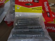 10x Fischer - Coach Screws 6 x 50 (Packs of 10) - All New & Packaged.