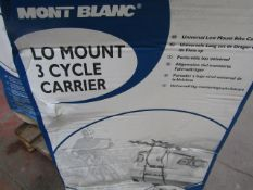 Mont Blanc - Lo Mount 3 Bicycle Carrier - Unchecked & Boxed.