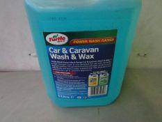 Turtle Wax - Car & Caravan Wash & Wax (5 Litre) - Unused.